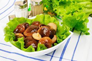 Hintergrundbilder Pilze Gemüse Teller