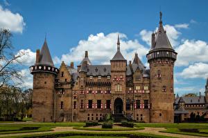 Photo Netherlands Castle Landscape design Lawn Kasteel de Haar Utrecht