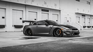 Hintergrundbilder Nissan Grau GT-R Nissan GT-R Autos