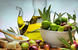 Image Olive Bread Foliage Oil Food
