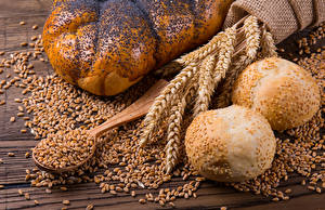 Hintergrundbilder Backware Brötchen Weizen Ähren Getreide Löffel das Essen