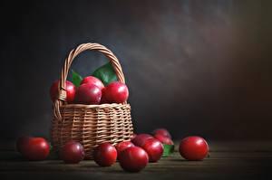 Bilder Pflaume Rot Weidenkorb Lebensmittel