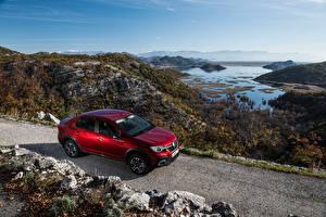 Tapety na pulpit Renault Czerwony 2018-19 Logan Stepway City samochód