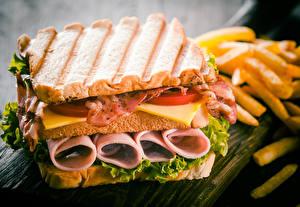 壁纸,,三明治,面包,肉類產品,蔬菜,煙肉,