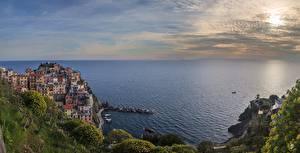 Bilder Meer Italien Ligurien Cinque Terre Park Horizont Städte