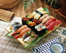 Hintergrundbilder Meeresfrüchte Sushi Caviar