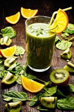 Hintergrundbilder Smoothie Kiwifrucht Orange Frucht Trinkglas Blattwerk Lebensmittel