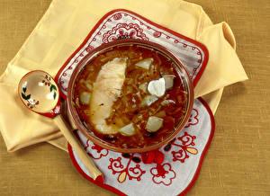 Hintergrundbilder Suppe Tischdecke Löffel Teller Lebensmittel