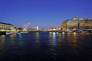 Bilder Südafrika Gebäude Flusse Bootssteg Abend Cape Town Städte