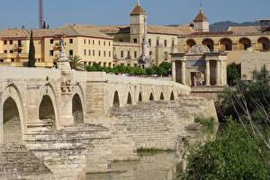 Hintergrundbilder Spanien Haus Brücken Cordoba Städte