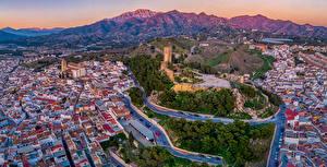 Fotos Spanien Haus Wege Hügel Von oben Malaga Städte
