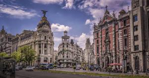 Bilder Spanien Madrid Gebäude Straße