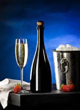 Wallpaper Strawberry Champagne Bucket Bottles Stemware Ice Food