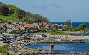 Bilder Schweden Küste Gebäude Schiffsanleger Arild Skane Lan Städte
