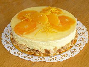 Фотографии Сладости Торты Апельсин Доски Дизайна Продукты питания