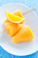 Fonds d'écran Confiseries Crème glacée Orange fruit Jaune