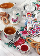 Fotos Tee Pfeifkessel Honig Kekse Marmelade