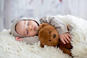 Fotos Teddy Schlaf Jungen Kapuze Kinder