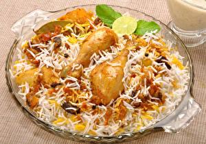 Fotos Die zweite Gerichten Hühnerbraten Reis