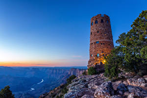 Wallpaper USA Grand Canyon Park Parks Lighthouses Mountains Sunrises and sunsets