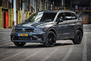 Image Volkswagen Grey Metallic 2018-19 Tiguan R-Line Black Style Worldwide automobile