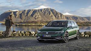 Hintergrundbilder Volkswagen Grün Metallisch 2019 Passat Alltrack Worldwide