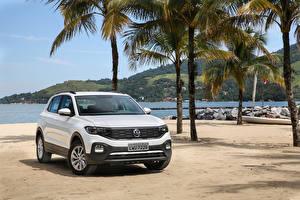 Hintergrundbilder Volkswagen Weiß 2019 T-Cross 200 TSI Latam
