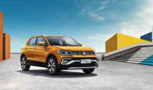 Fotos Volkswagen Gelb 2019 T-Cross 280 TSI