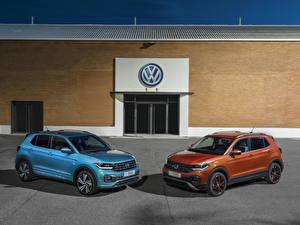 Hintergrundbilder Volkswagen 2 Metallisch 2019 T-Cross