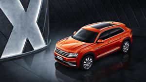 Bilder Volkswagen Orange 2019 Volkswagen Teramont X automobil