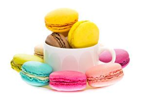 Papéis de parede Fundo branco Macaron Multicolor Chávena Alimentos