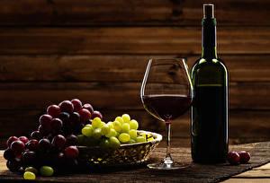 Image Wine Grapes Bottle Stemware Food