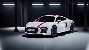 Bilder Audi Weiß R8 2018 V10 RWS auto