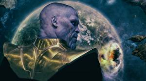 Wallpapers Avengers: Infinity War Bald Back view Thanos Movies