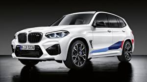 Fotos BMW Weiß Softroader 2019 X3M M Performance Parts