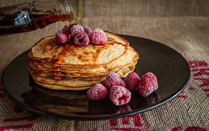 Images Berry Pancake Raspberry Plate Food