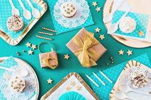 Image Birthday Cupcake Gifts Bowknot Food
