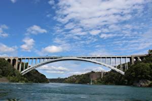 Bilder Brücken Flusse Kanada Himmel Niagara river Natur
