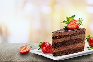 Hintergrundbilder Törtchen Erdbeeren Schokolade das Essen
