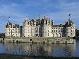 Images Castles Rivers France Monuments Chambord castle, Loire river