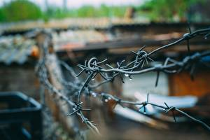Image Closeup Barbed wire