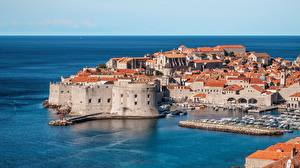 Wallpaper Croatia Coast Fortress Building Dubrovnik Germander