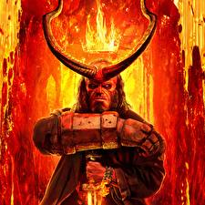 Photo Crown Fire Demons Horns Hands Hellboy 2019