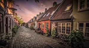 Wallpapers Denmark Houses Street Aarhus Cities