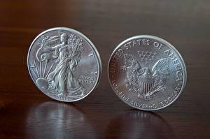 Fotos Dollars Münze Geld 2 Englisch 2015