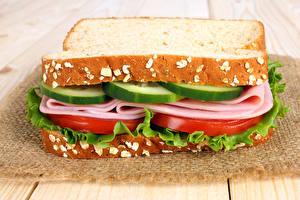 Fotos Fast food Sandwich Brot Wurst Gemüse
