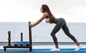 Fonds d'écran Fitness Jambe Belle Activité physique Sport Filles