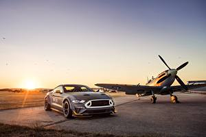 Image Ford Airplane Sunrises and sunsets RTR 2018 Mustang GT Eagle Squadron automobile