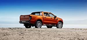 Fotos & Bilder Ford Pick-up Orange Seitlich Ranger Wildtrak Autos