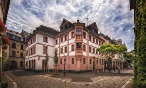 Hintergrundbilder Deutschland Gebäude Mainz Straße Straßenlaterne